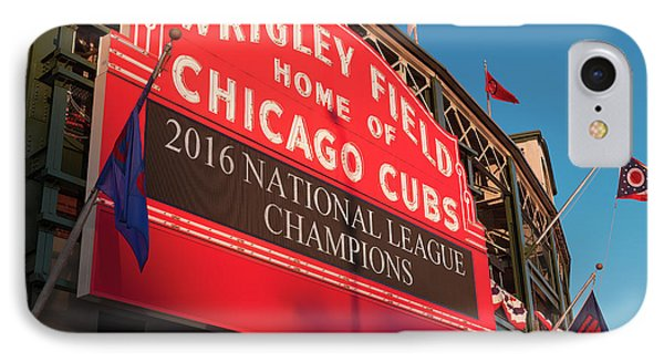 Wrigley Field Marquee Angle IPhone 7 Case by Steve Gadomski