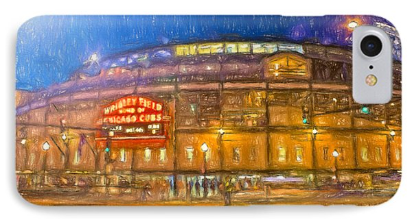 Wrigley Glows At Night IPhone Case by John Farr
