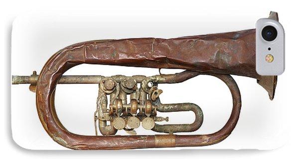 Wrinkled Old Trumpet Phone Case by Michal Boubin