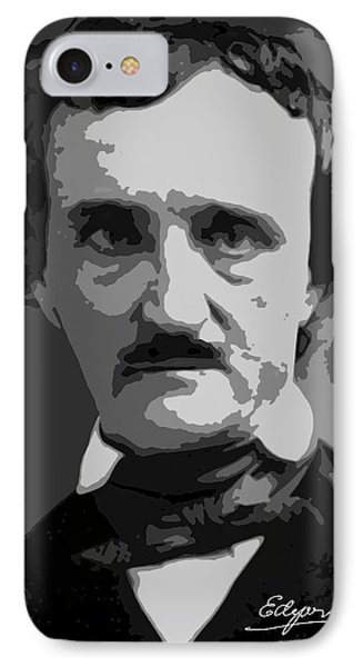 Writer Edgar Allan Poe IPhone Case by Daniel Hagerman