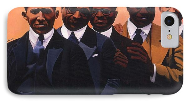 Harlem iPhone 7 Case - Writers On The Roof by Joyce Owens