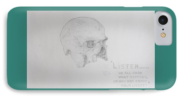 Written In Bone IPhone Case by Contemporary Michael Angelo