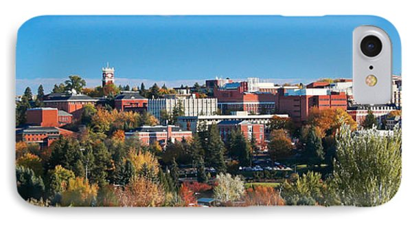 Wsu Autumn Panorama IPhone Case by David Patterson