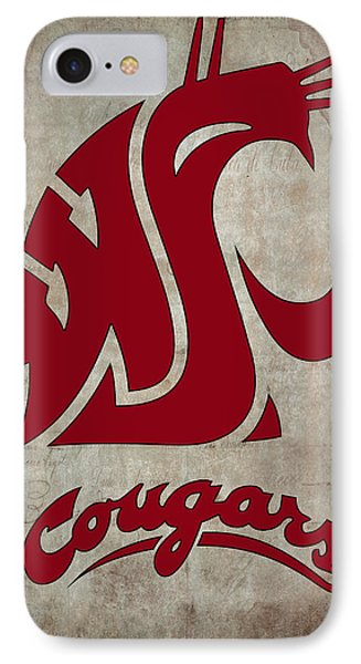 W S U Cougars IPhone Case by Daniel Hagerman