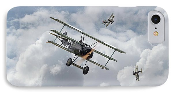 IPhone Case featuring the photograph Ww1 - Fokker Dr1 - Predator by Pat Speirs
