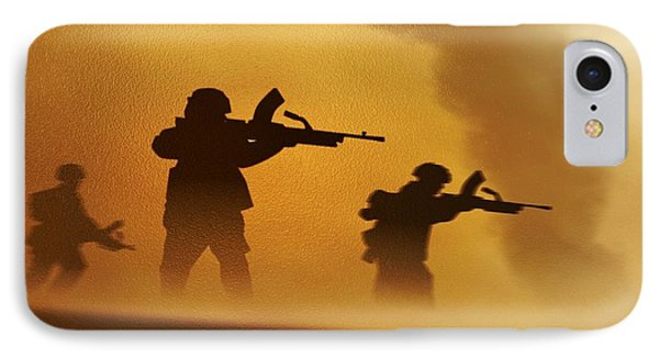 IPhone Case featuring the digital art Ww2 British Soldiers On The Attack by John Wills