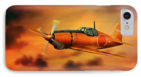 Ww2 Imperial Japanese Fighter J2m3 Raiden IPhone Case by John Wills