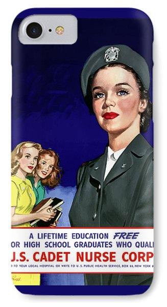 Ww2 Us Cadet Nurse Corps Phone Case by War Is Hell Store