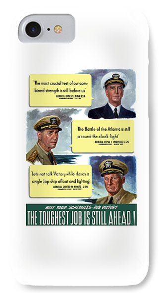 Ww2 Us Navy Admirals IPhone Case by War Is Hell Store