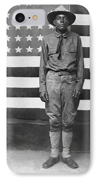 Wwi African American Soldier IPhone Case by Underwood Archives