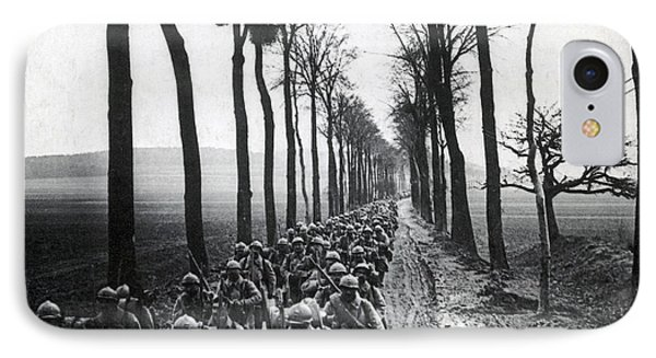 Wwi, French Infantrymen, Battle IPhone Case by Science Source