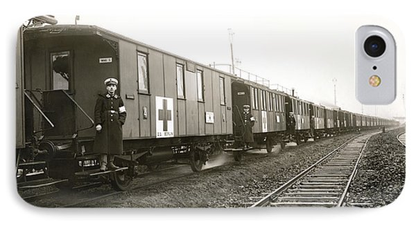 Wwi German Hospital Train IPhone Case by Underwood Archives