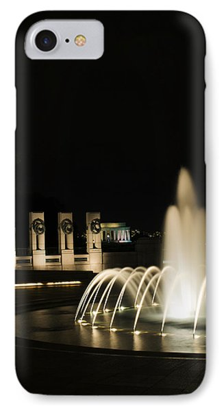 IPhone Case featuring the photograph Wwii Memorial Fountain by Angela DeFrias