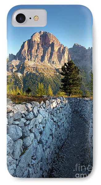 Wwi Trenches - Dolomites Phone Case by Brian Jannsen