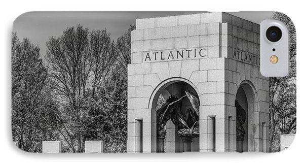 Wwii Atlantic Memorial Bw IPhone Case by Susan Candelario