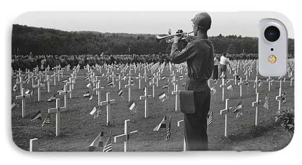 Wwii Taps Memorial Service IPhone Case by Underwood Archives