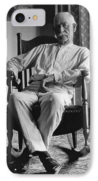 Wyatt Earp 1923 - Los Angeles IPhone Case by Daniel Hagerman