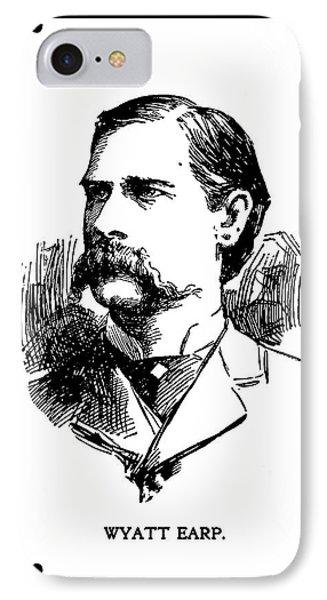 IPhone Case featuring the mixed media Wyatt Earp Newspaper Portrait  1896 by Daniel Hagerman