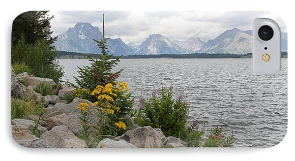 Wyoming Mountains IPhone Case by Diane Bohna