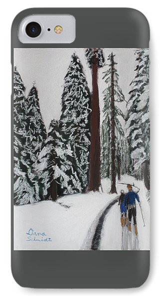 X-c Skiing In The Ca Redwoods 14 Years Ago IPhone Case