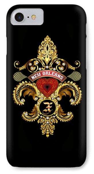 X-fleur-de-lis New Orleans Transparent Back Pick Color IPhone Case