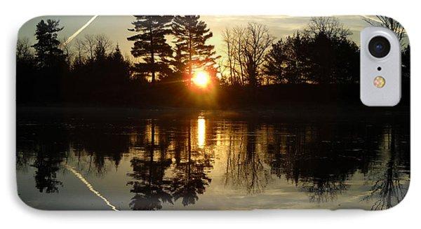 X Marks The Spot Sunrise Reflection IPhone Case