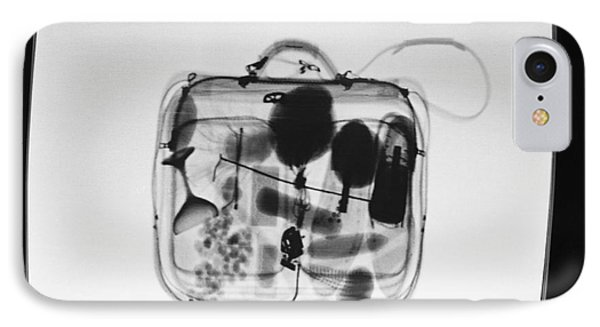X-ray Of Suitcase IPhone Case by Science Source