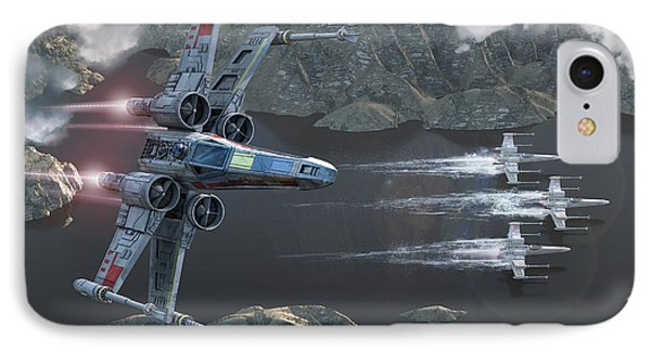 X-wing Along The River IPhone Case