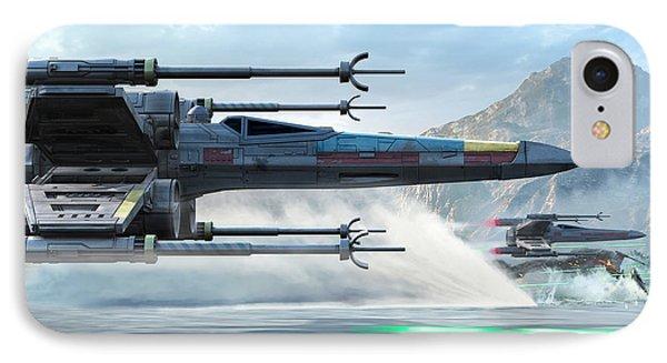 X-wing Full Throttle  IPhone Case by Kurt Miller