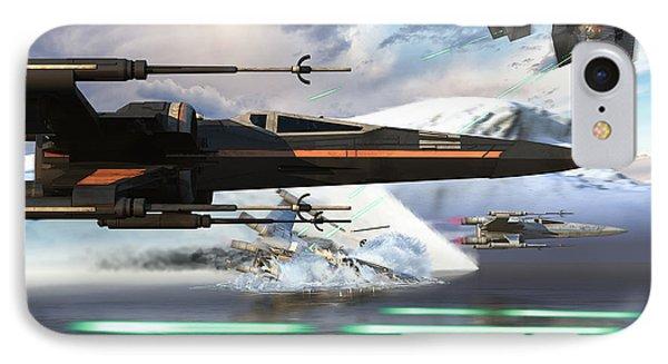 X-wing Full Throttle V2 IPhone Case by Kurt Miller