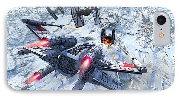 X-wing Glacier IPhone Case by Kurt Miller
