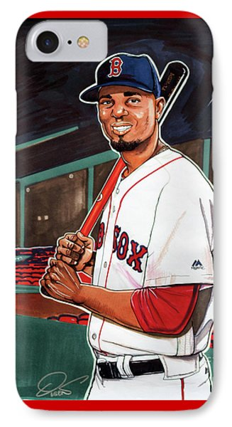 Xander Bogaerts IPhone Case by Dave Olsen