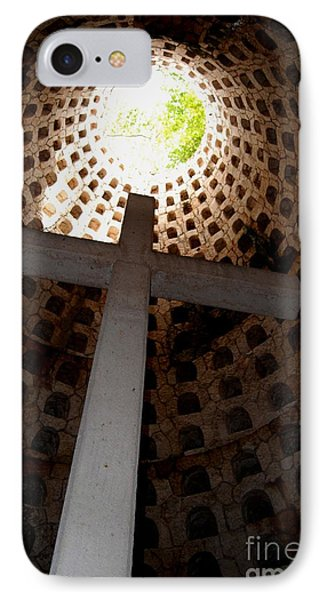 Xcaret Cemetery Catacomb IPhone Case by Angela Murray