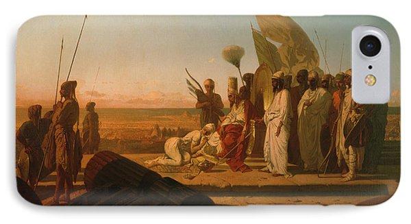 Xerxes At The Hellespont IPhone Case by Jean Adrien Guignet