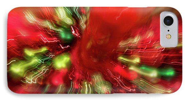 IPhone Case featuring the photograph Xmas Burst 2 by Rebecca Cozart