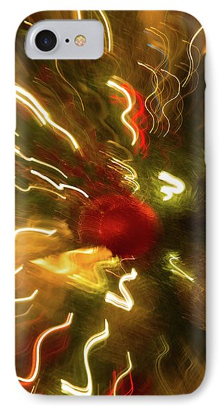 IPhone Case featuring the photograph Xmas Burst 3 by Rebecca Cozart