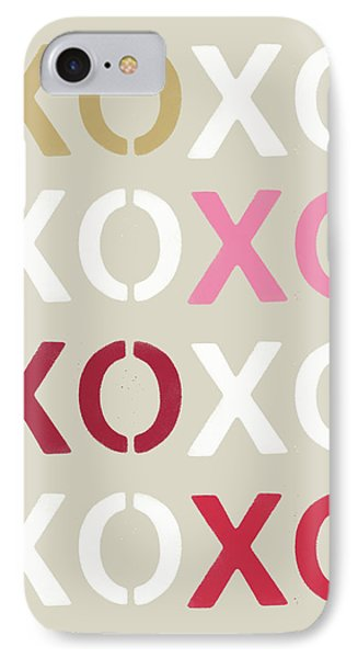 IPhone Case featuring the mixed media Xoxo- Art By Linda Woods by Linda Woods