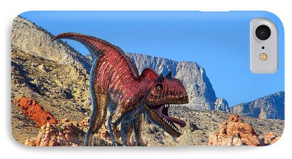 Xuanhanosarus In The Desert Phone Case by Frank Wilson