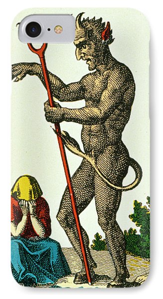 Xv The Devil   Tarot Card IPhone Case by French School
