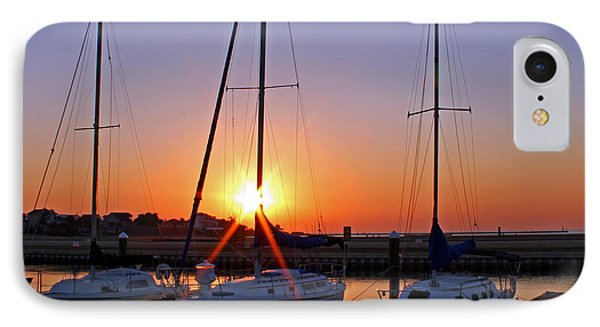 IPhone Case featuring the photograph Yacht Club Sunrise by Judy Vincent
