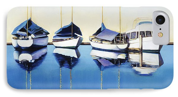 Yacht Harbor Phone Case by Han Choi - Printscapes