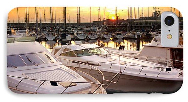Yacht Marina IPhone Case by Carlos Caetano