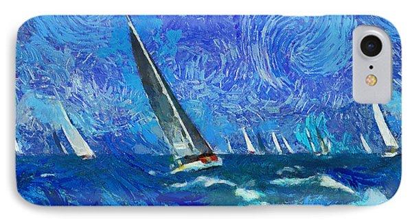 Yacht Regatta Leader IPhone Case by Yury Malkov