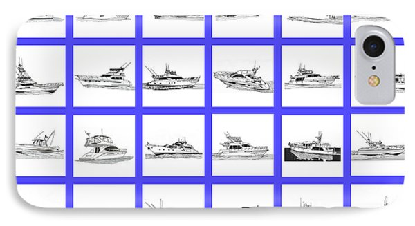 Yachting Shower Curtain  IPhone Case