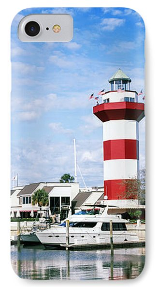 Yachts At A Harbor With Lighthouse IPhone Case