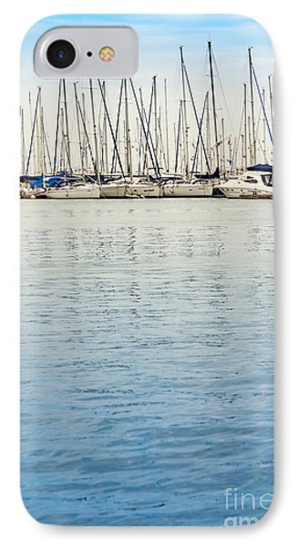 Yachts At Sea IPhone Case by Svetlana Sewell