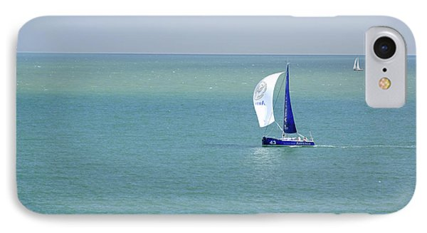 Yachts Sailing In Ventnor Bay Phone Case by Rod Johnson