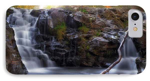 Yacolt Falls In Autumn Phone Case by David Gn
