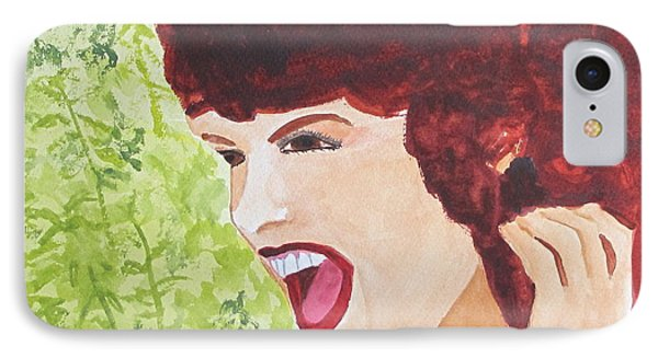 IPhone Case featuring the painting Yah by Sandy McIntire