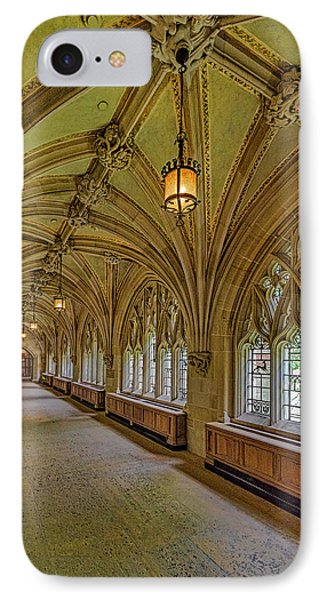 IPhone Case featuring the photograph Yale University Cloister Hallway II  by Susan Candelario